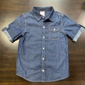 Toughskins Boys Short Sleeves Denim Shirt Size 7